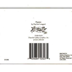 5100 0101 Pansies by Paul de Longpre