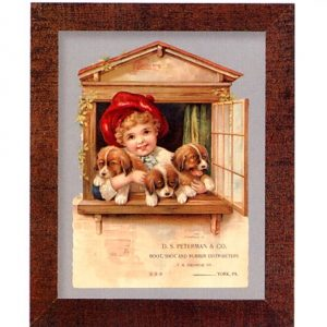 3100 1463 Girl with Puppies – D.S. Peterman & Co