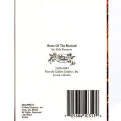 5100 0085 Home Of The Bluebird by Zula Kenyon