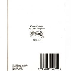 5100 0349 Country Sampler by Laurie Korsgaden