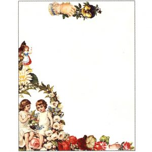 6400 0003 Victorian Fold & Seal – Floral with Girls