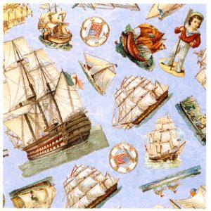 6420 0002 Gift Wrap: Sailing Boats