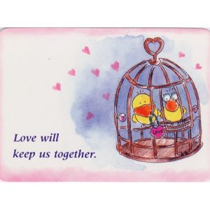 K099 Love will keep us together