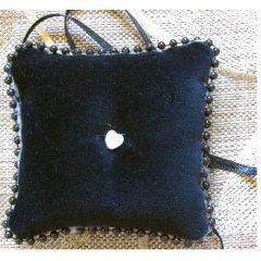 SL406 Black Ring Cushion