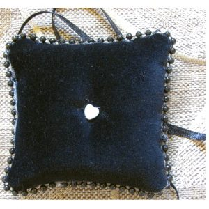 SL406 Black Ring Cushion