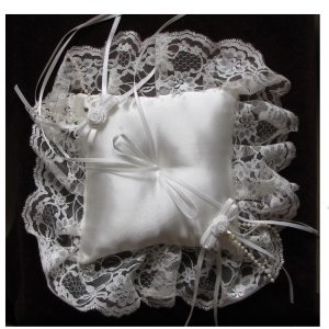 SL409 White Ring Cushion