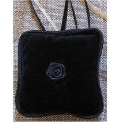 SL412 Black Ring Cushion