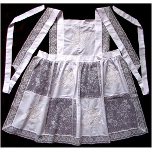 SL615 Full Apron White