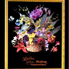 0620 0561 50th Golden Wedding Anniversdary